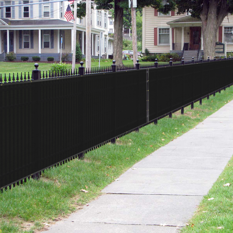 Bouya Black Privacy Fence Screen 8 X 50 Heavy Duty For
