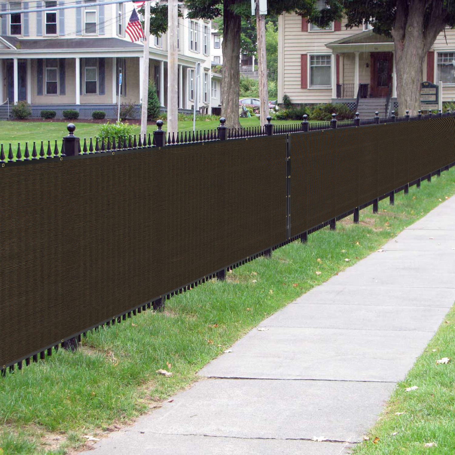 Bouya Brown Privacy Fence Screen 4 X 50 Heavy Duty For