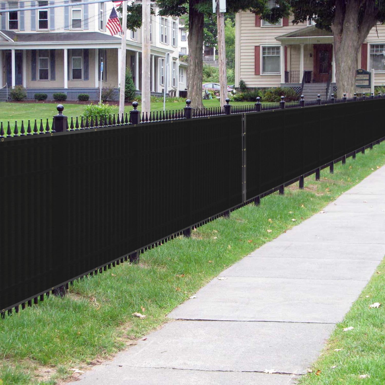 BOUYA Black Privacy Fence Screen 4′ x 50′ Heavy Duty for ...