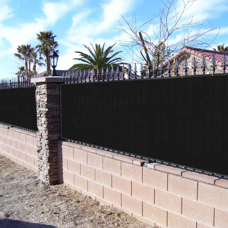 BOUYA Black Privacy Fence Screen 8′ x 50′ Heavy Duty for ...